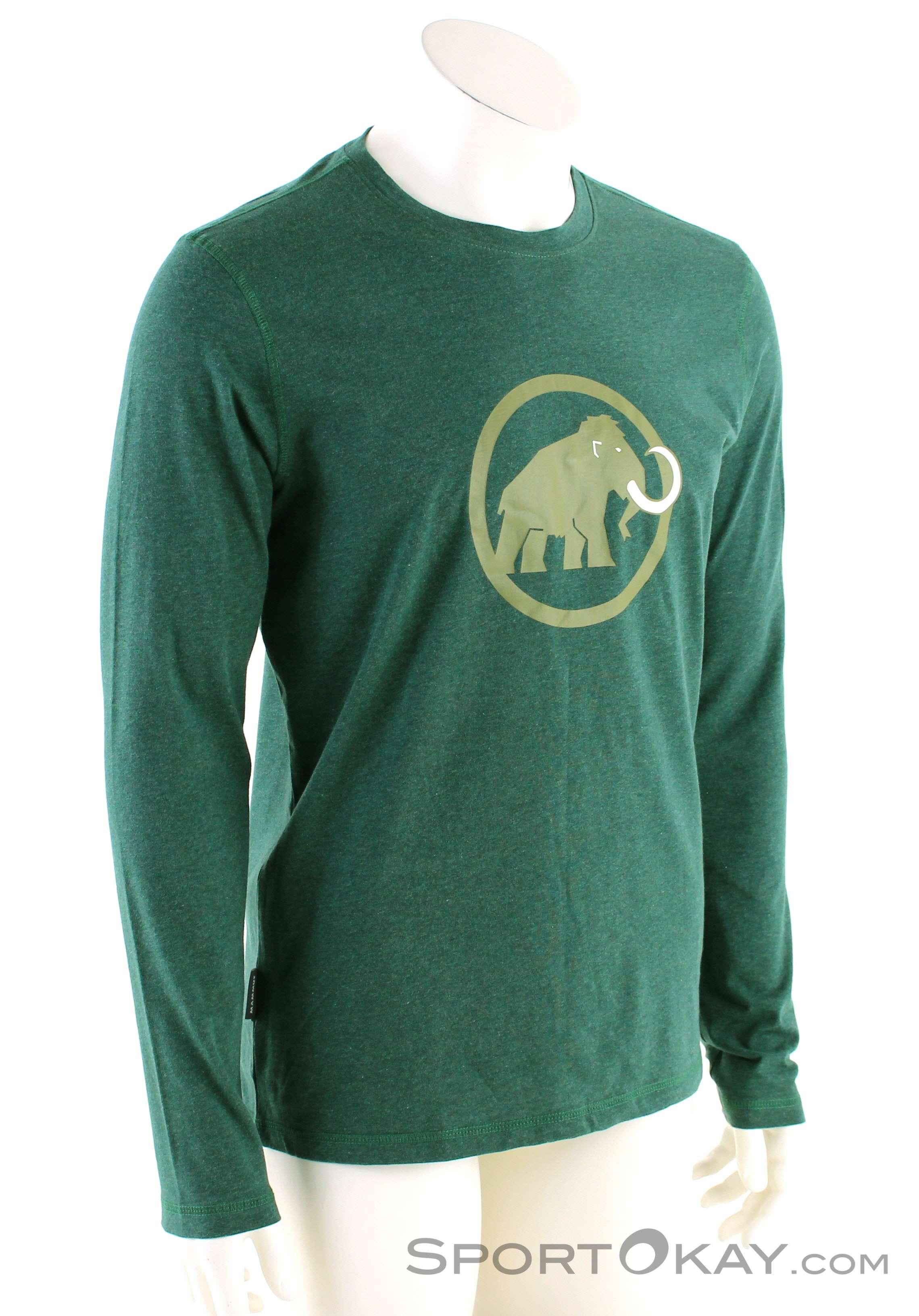 Mammut Logo L/S Herren Shirt-Grün-XXL