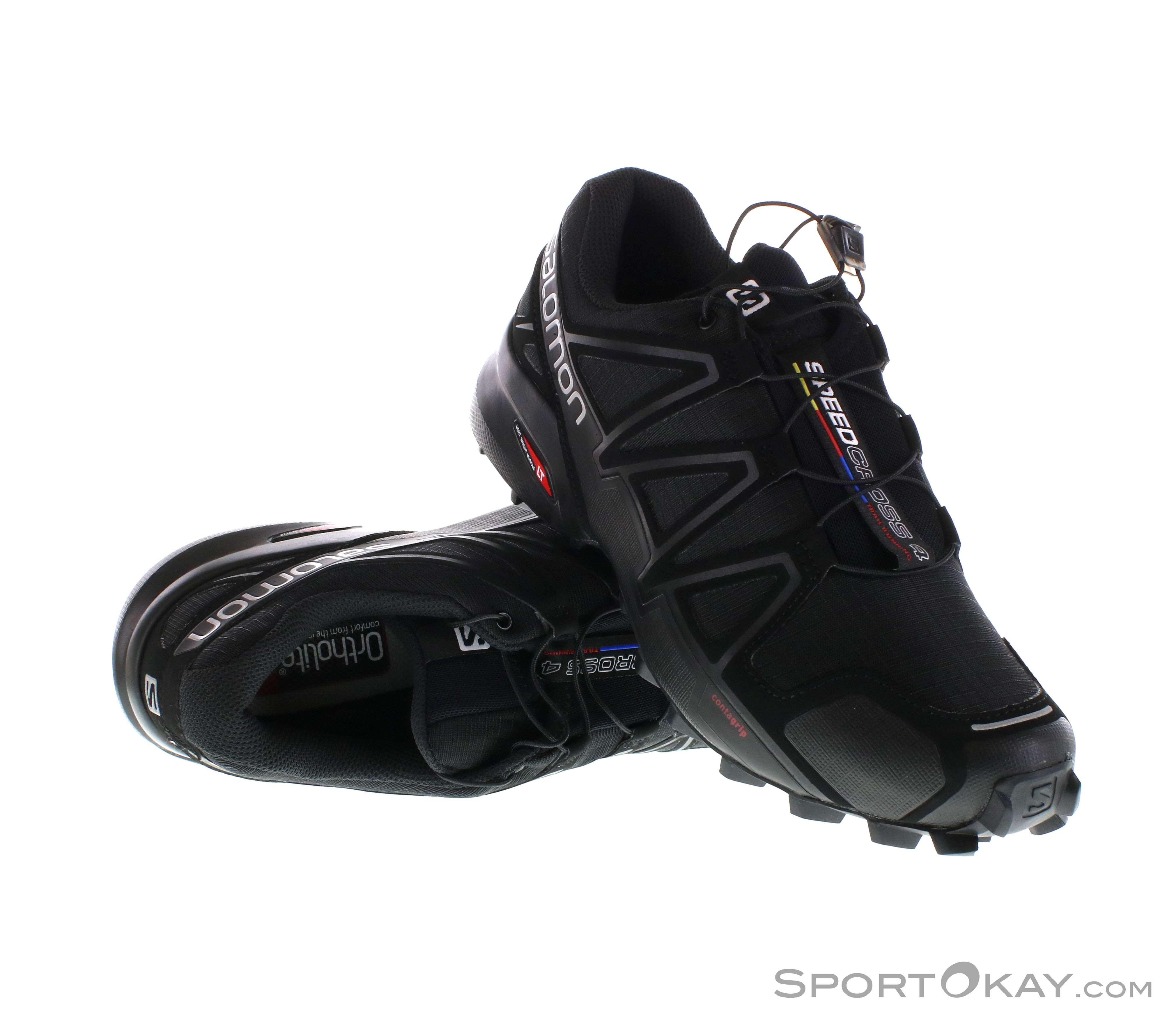 Salomon Speedcross 4 Herren Traillaufschuhe-Schwarz-10,5
