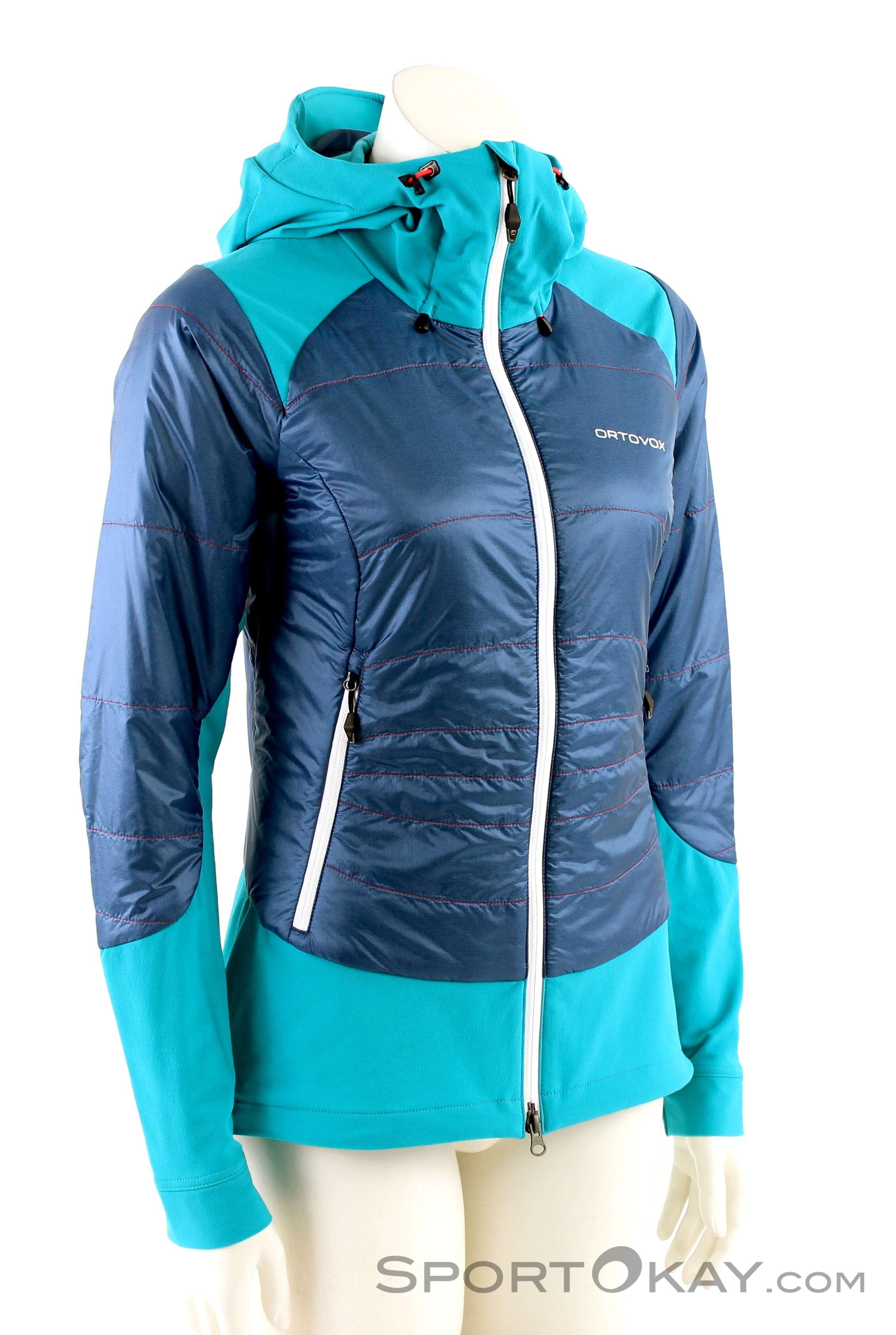 Ortovox Swisswool Piz Palü Jacket Damen Tourenjacke-Blau-S
