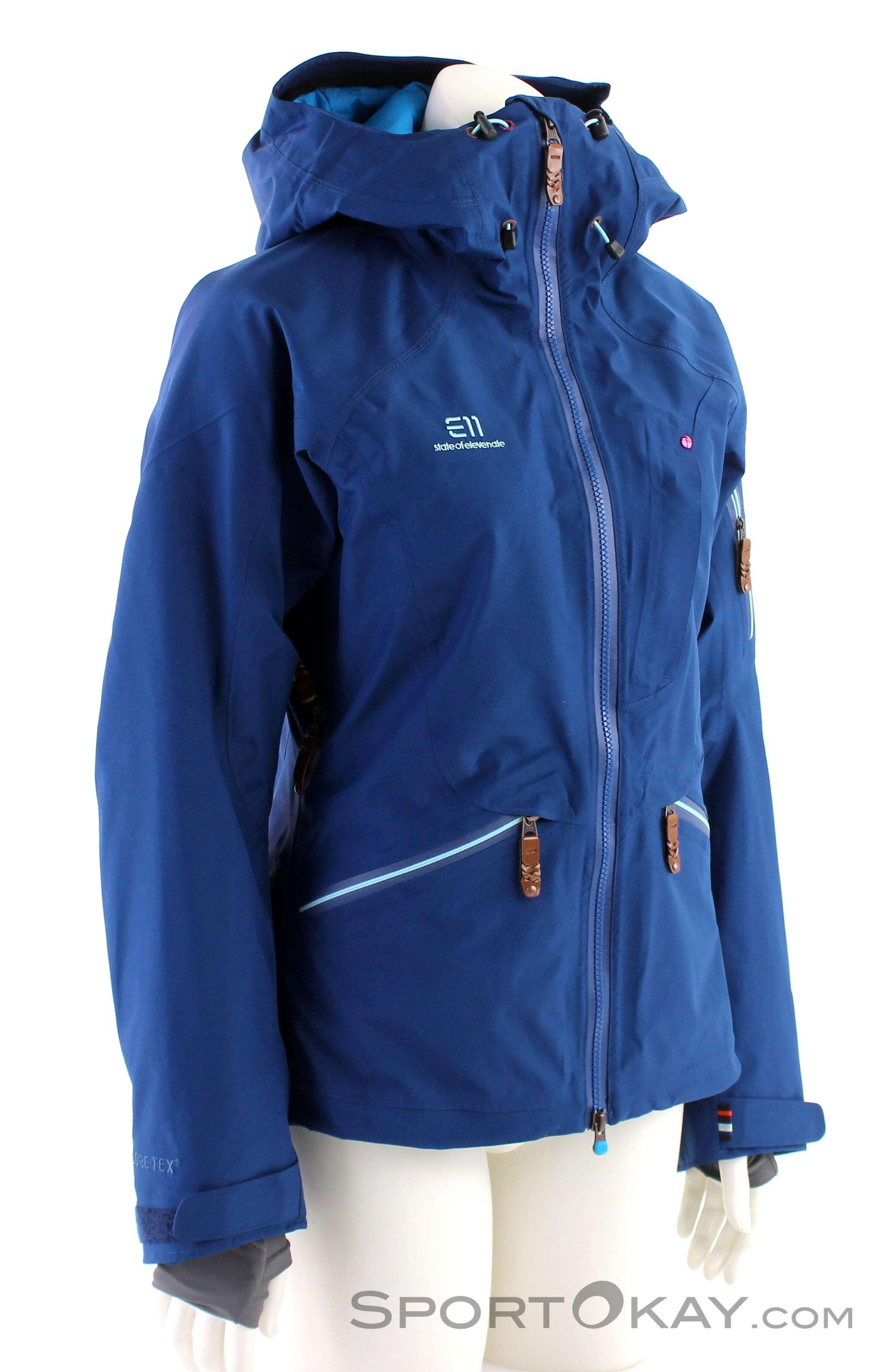 Elevenate Zermatt Damen Tourenjacke-Blau-L