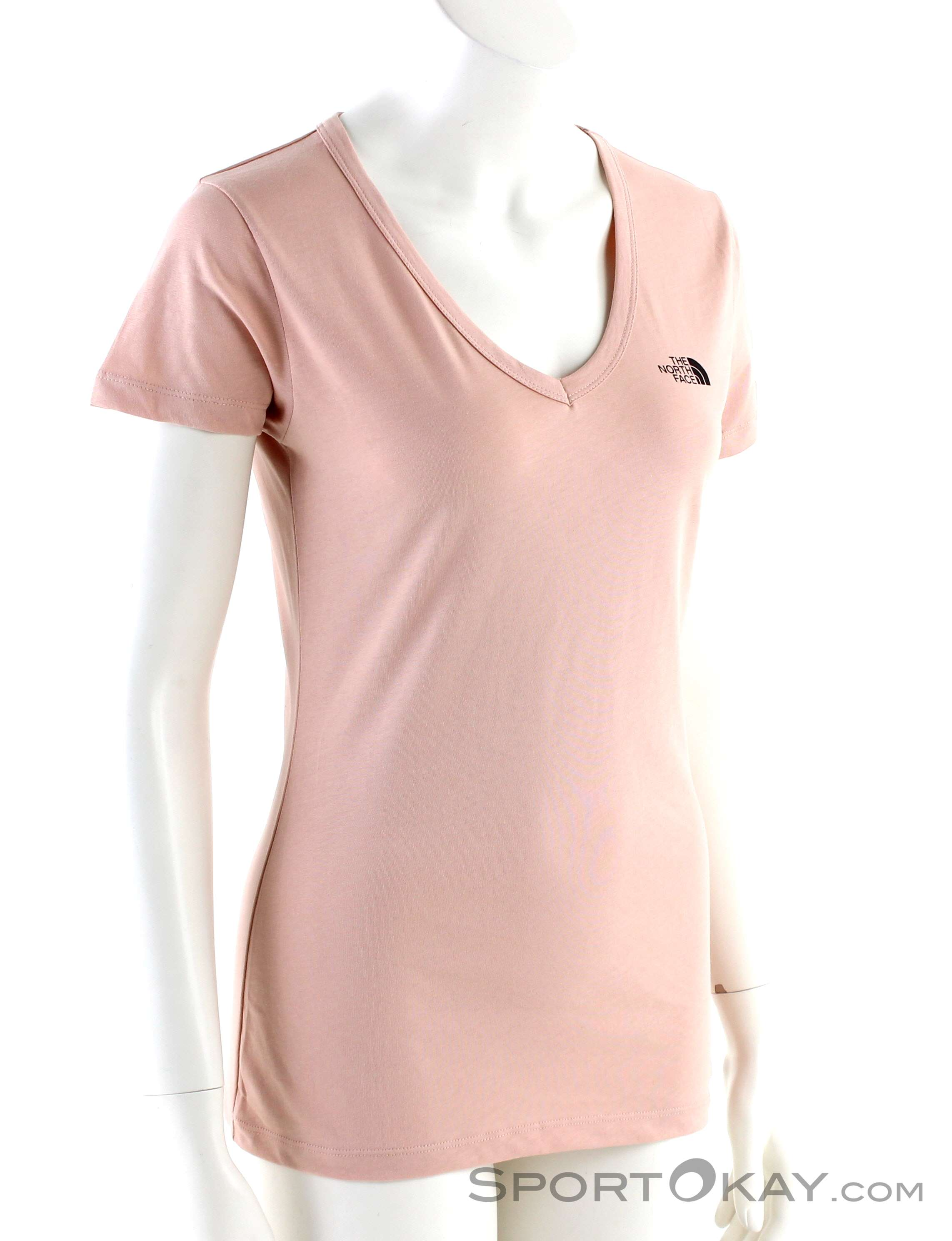 The North Face Simple Dom SS Damen T-Shirt-Pink-Rosa-M