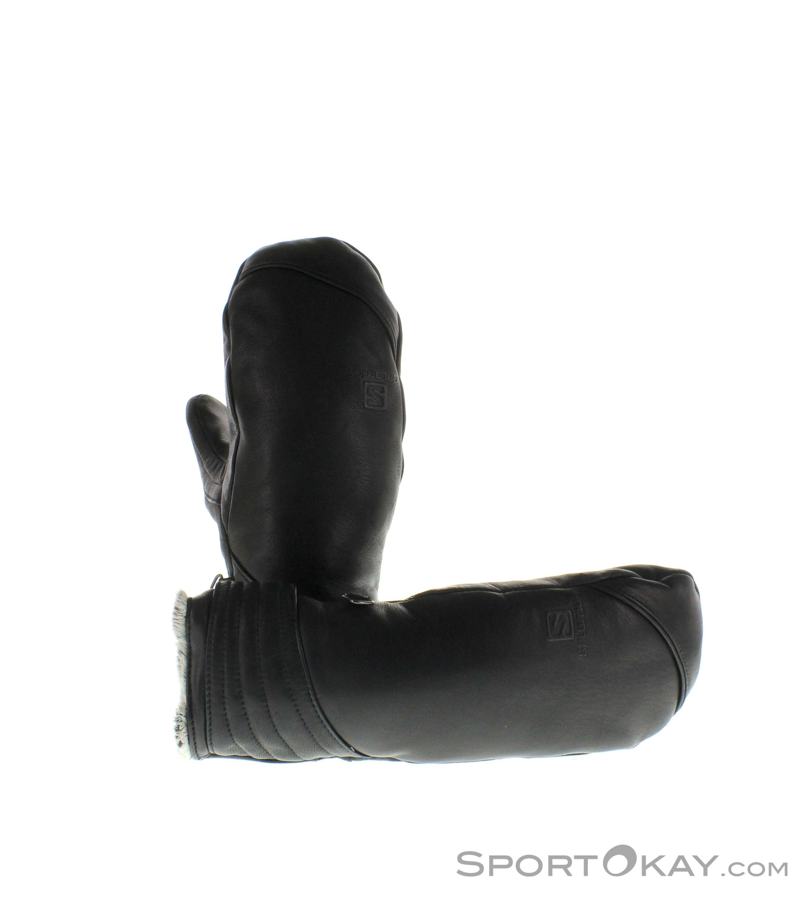 Salomon Native Mitten Damen Handschuhe-Schwarz-M