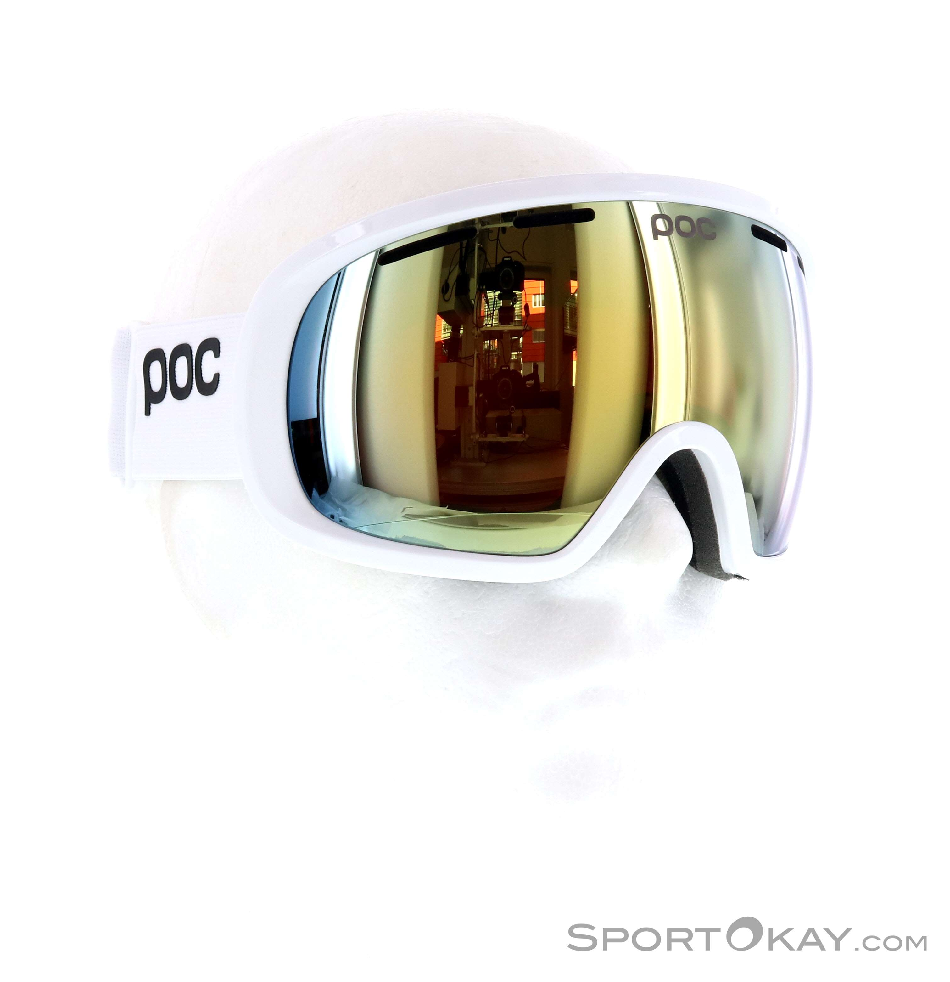 POC Fovea Clarity Skibrille-Weiss-One Size