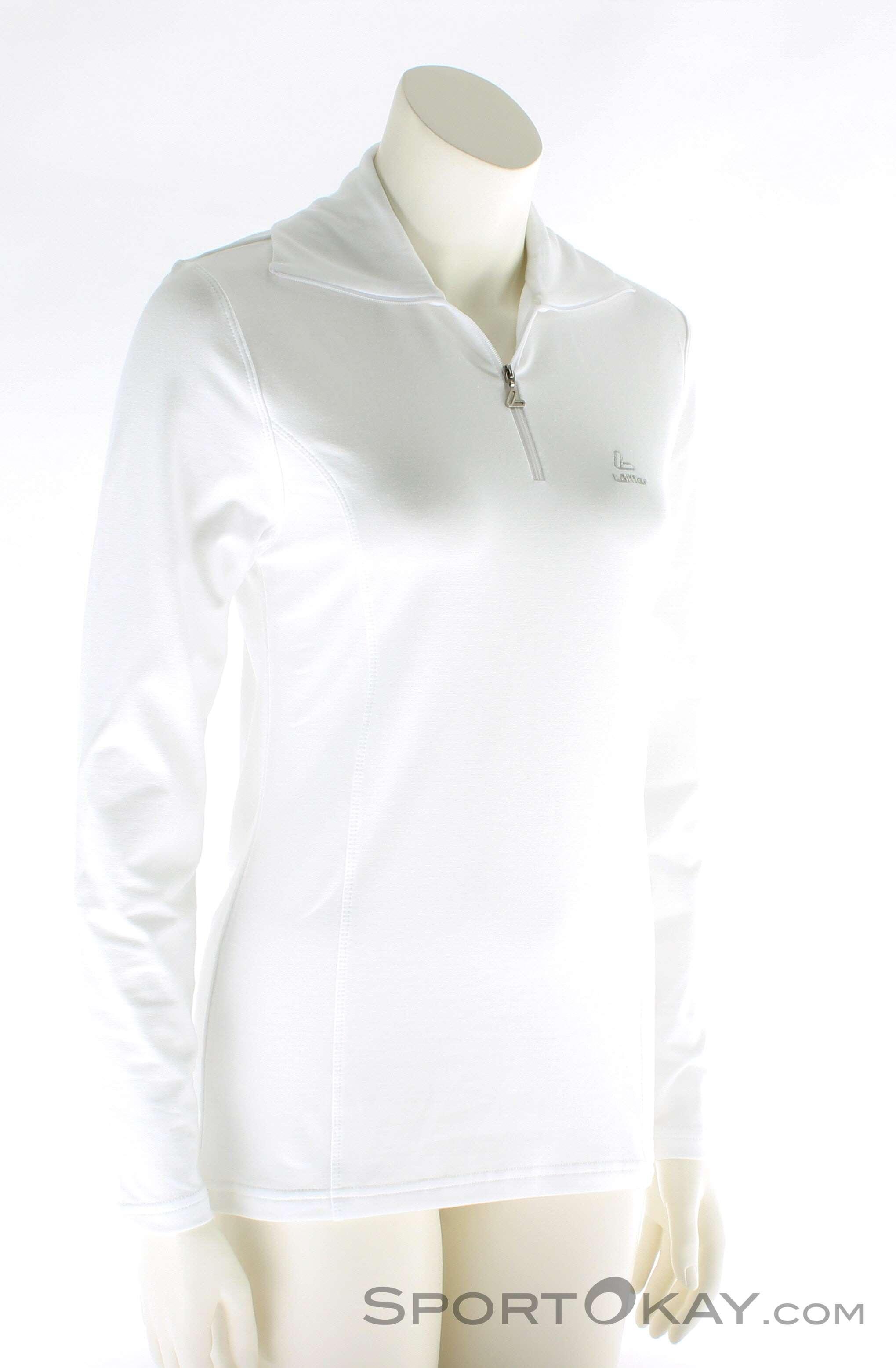 Löffler Transtex Zip-Rolli Basic Damen Laufsweater-Weiss-36