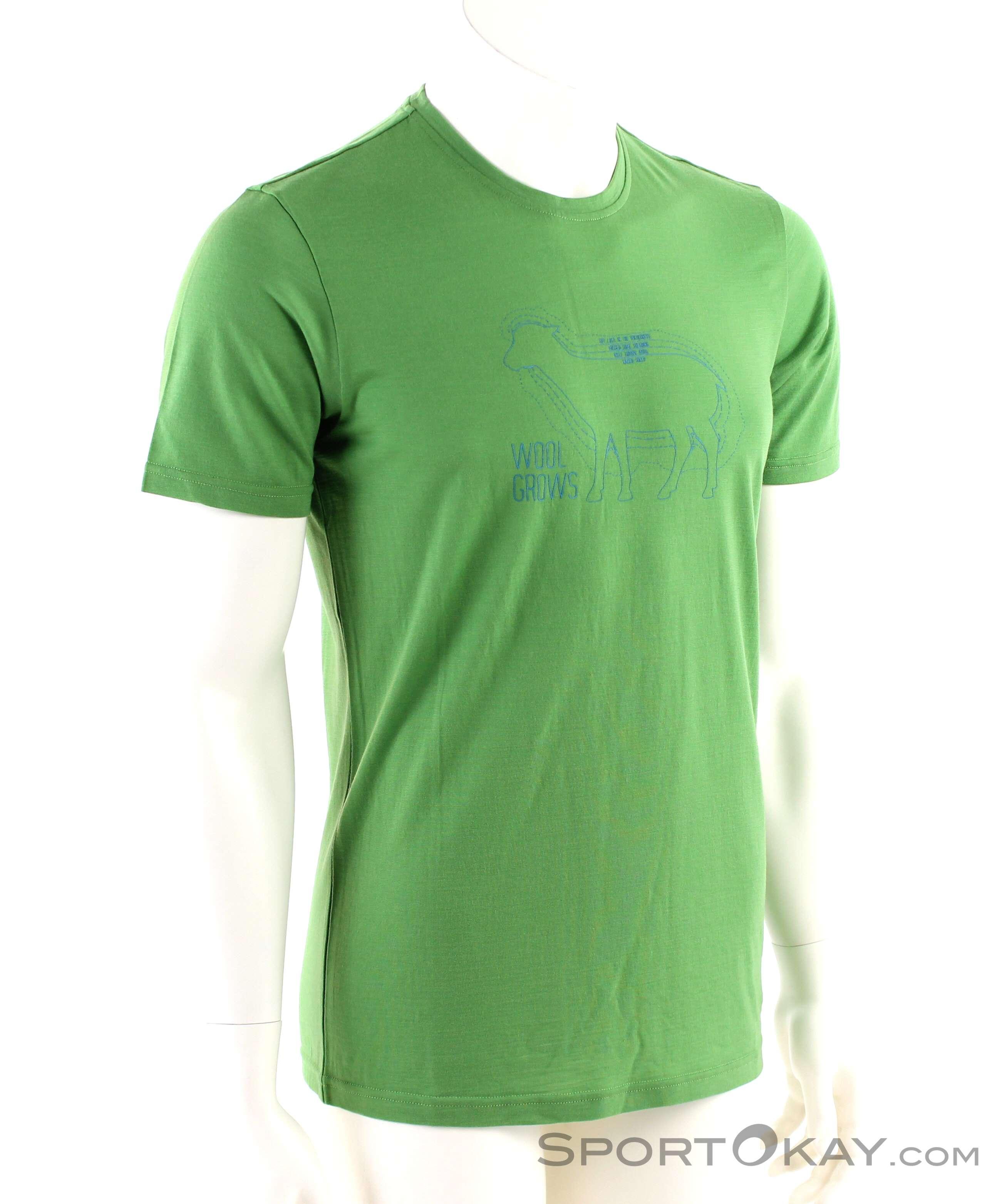 Ortovox Cool Wool Grows Herren T-Shirt-Grün-XL