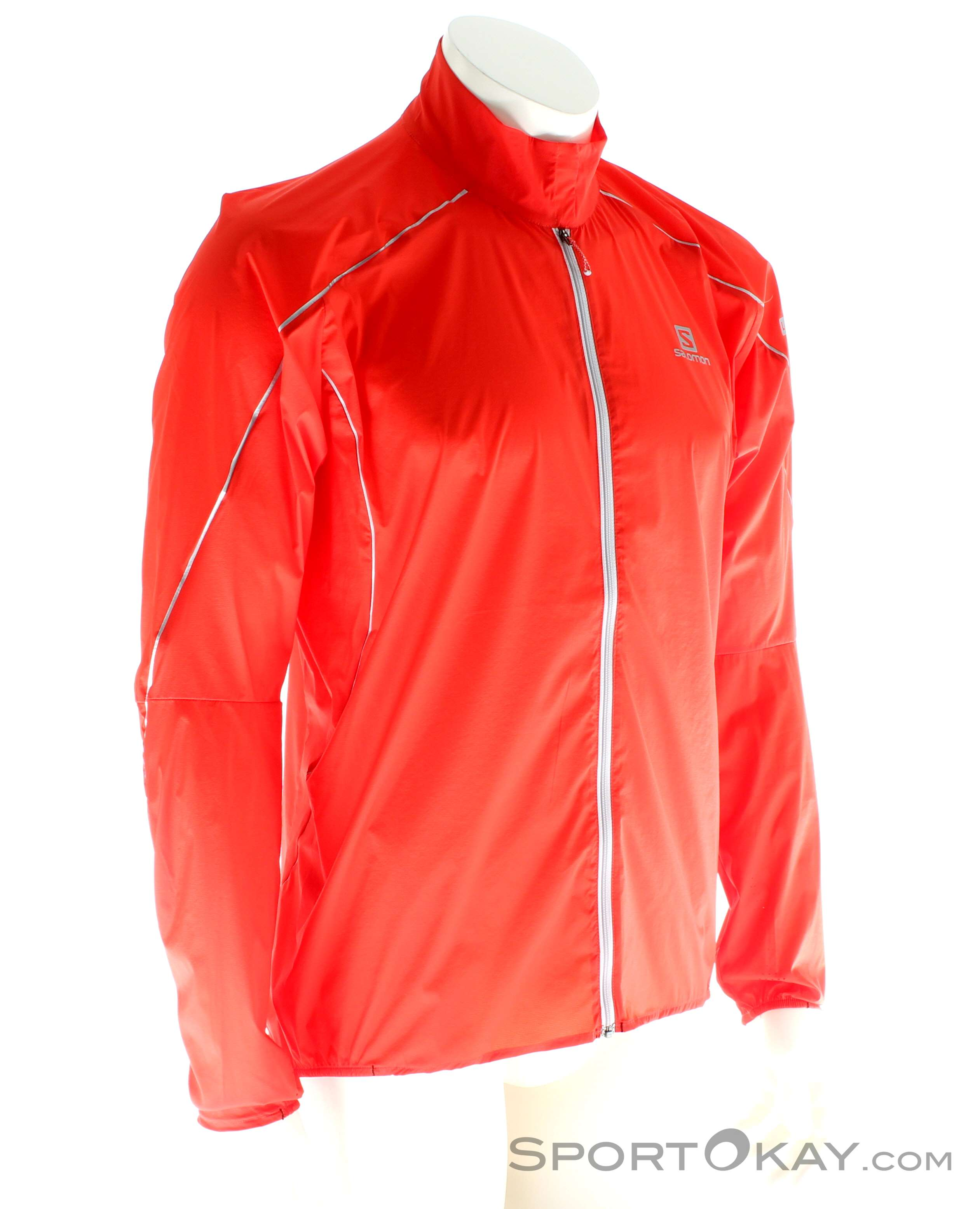 Salomon S-LAB Light Jacket Herren Outdoorjacke-Rot-M