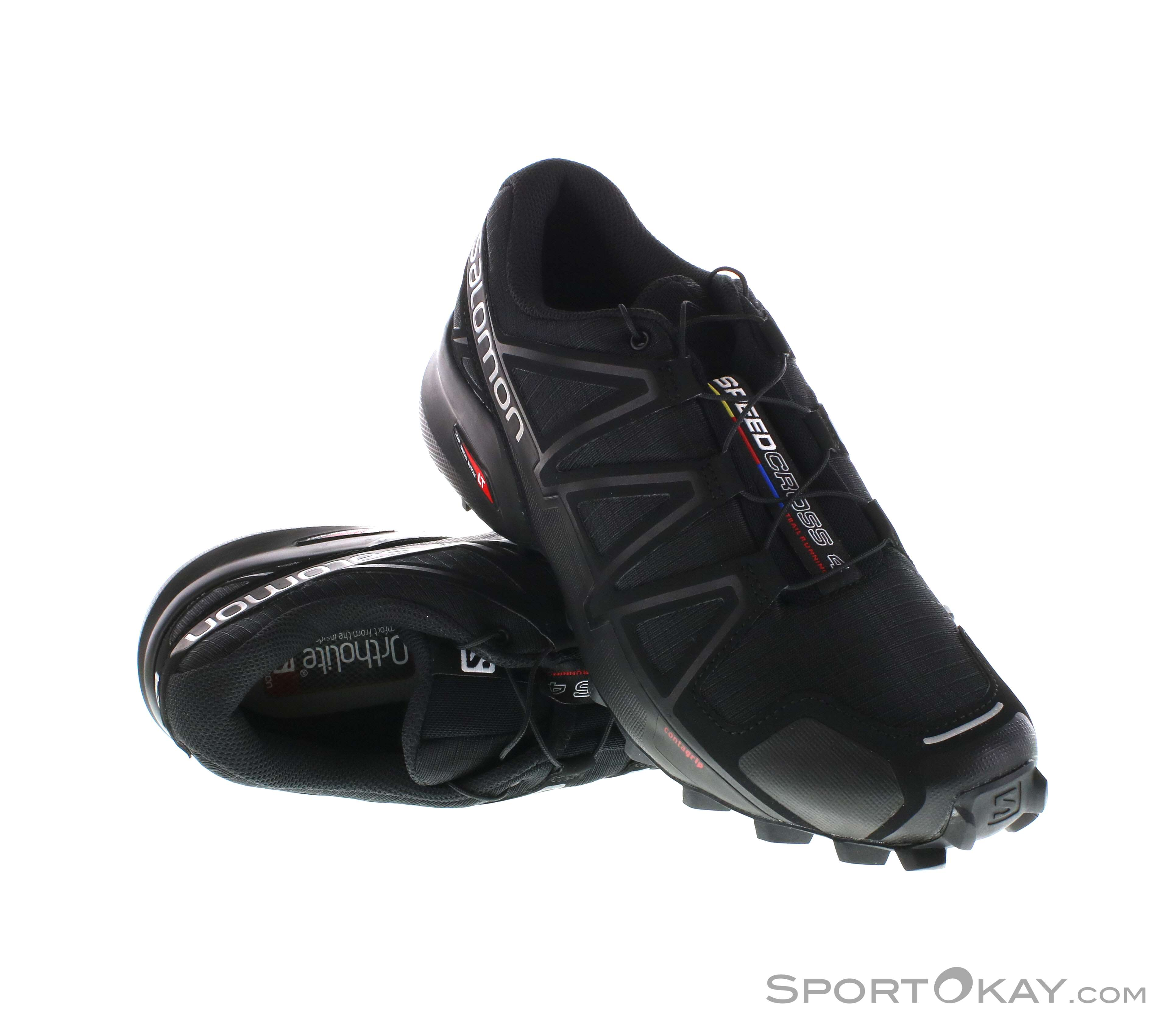 Salomon Speedcross 4 Damen Traillaufschuhe-Schwarz-5,5