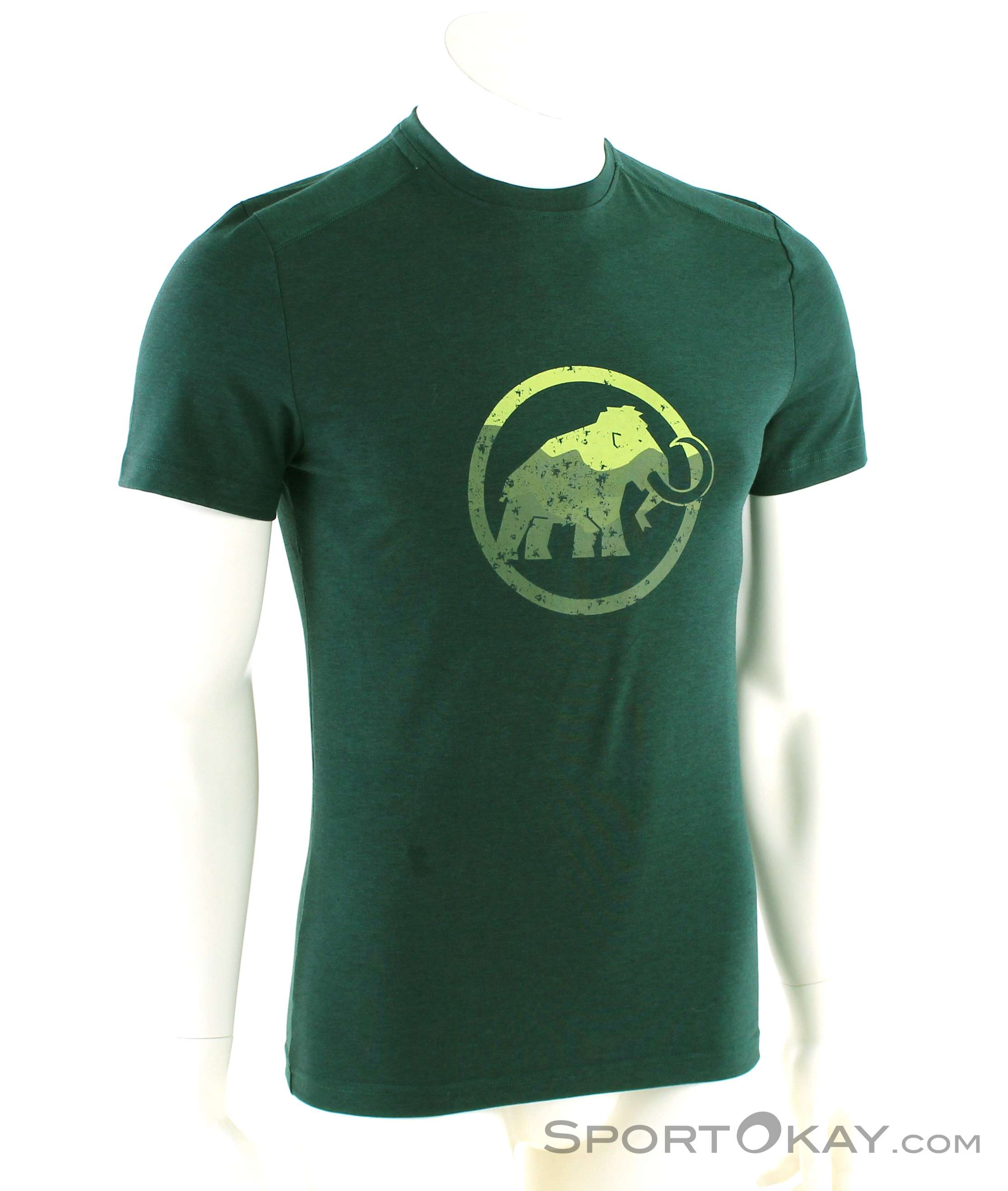 Mammut Logo L/S Herren Shirt-Grün-L