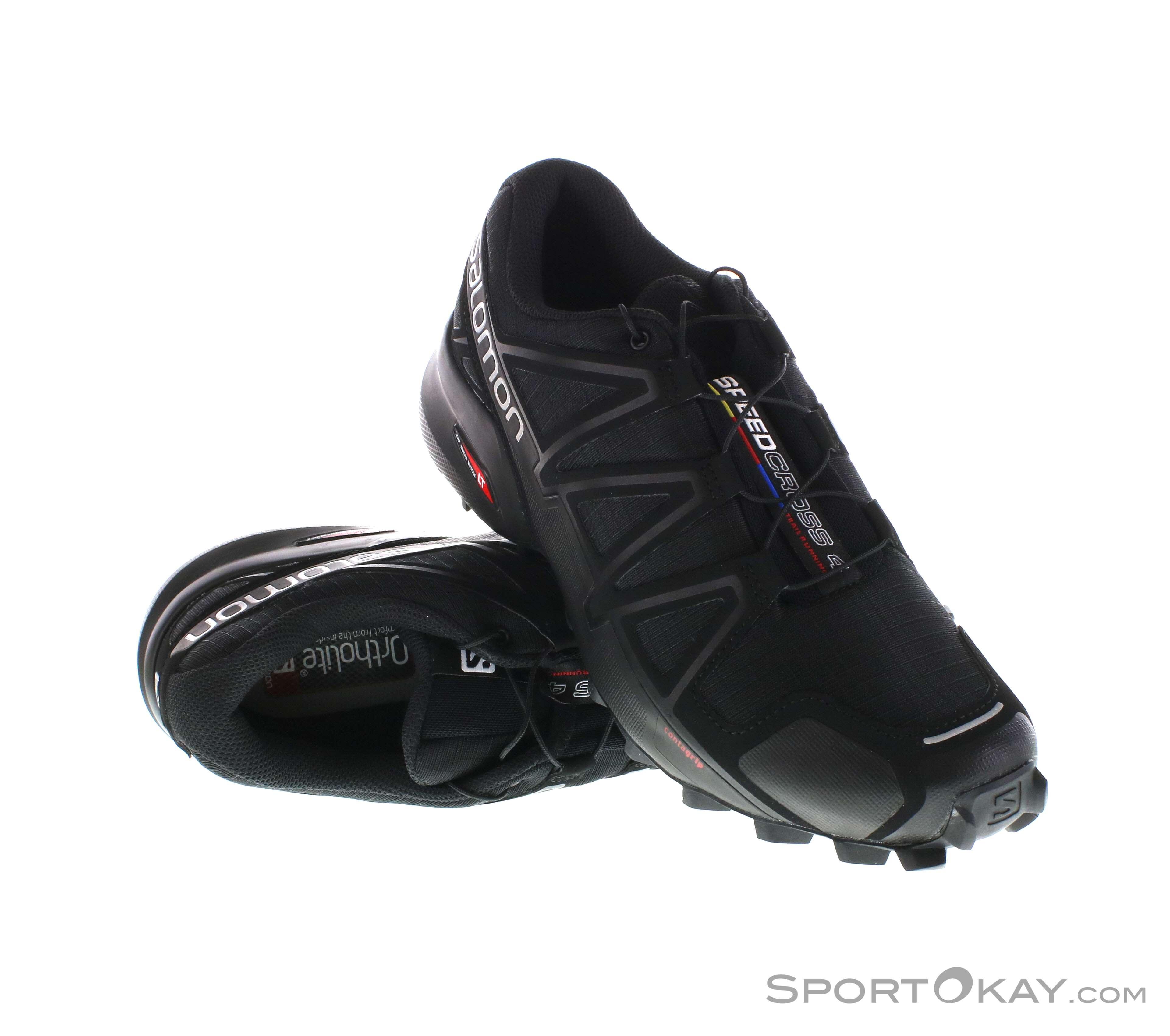 Salomon Speedcross 4 Damen Traillaufschuhe-Schwarz-8