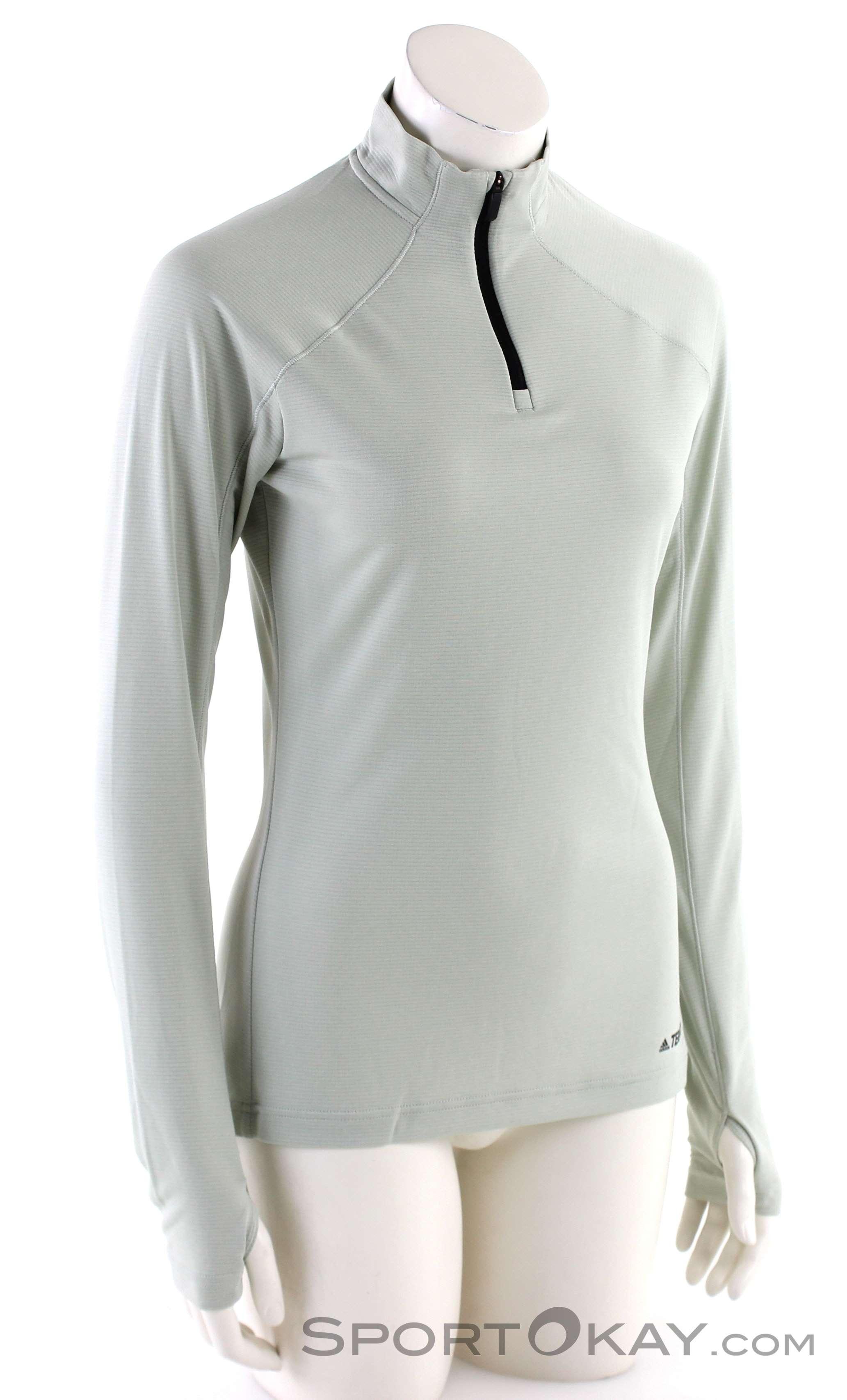 adidas Terrex Trace Ro 1/2 LS Damen Shirt-Grau-40