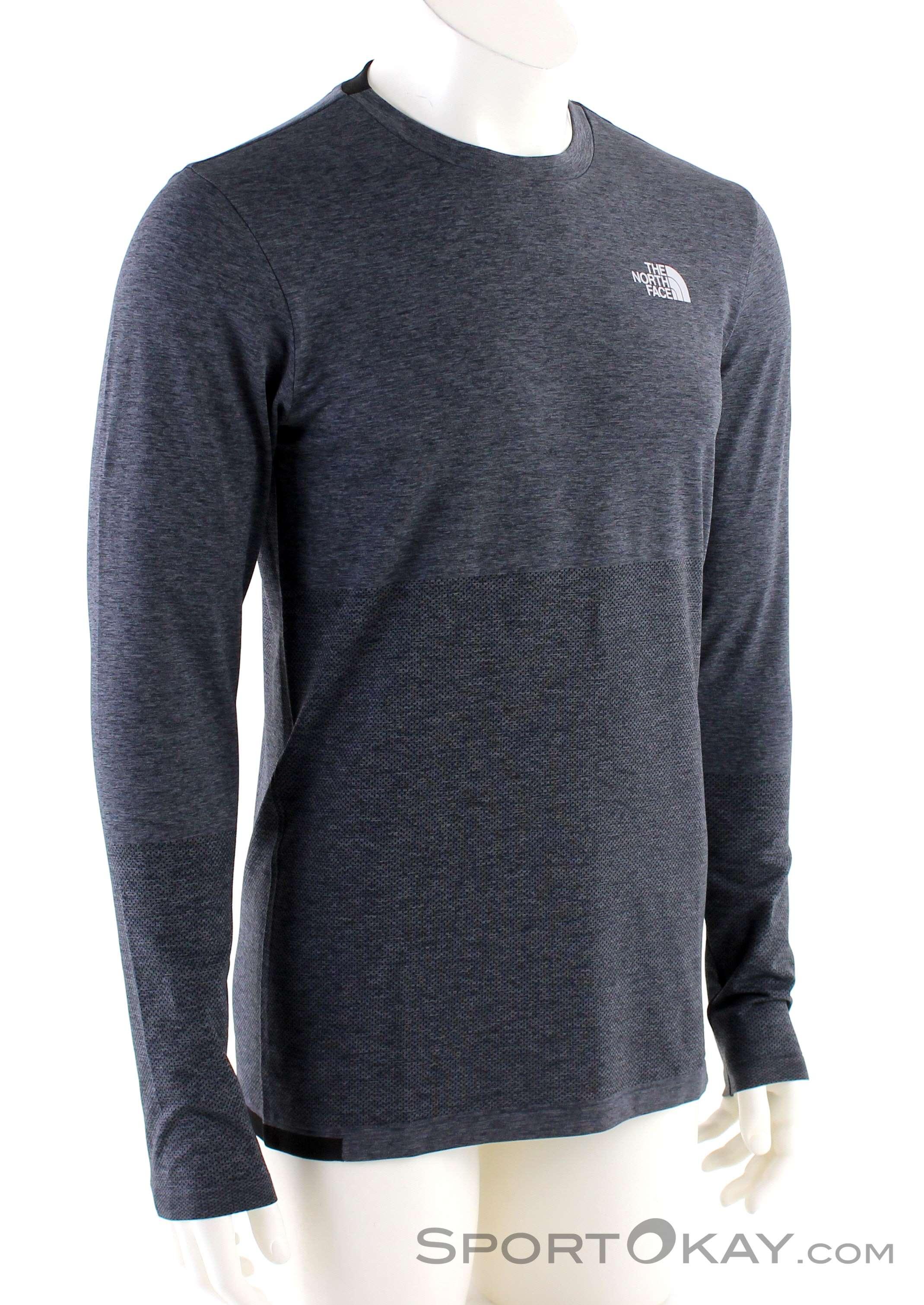 The North Face L1 LS Herren Funktionsshirt-Grau-XL