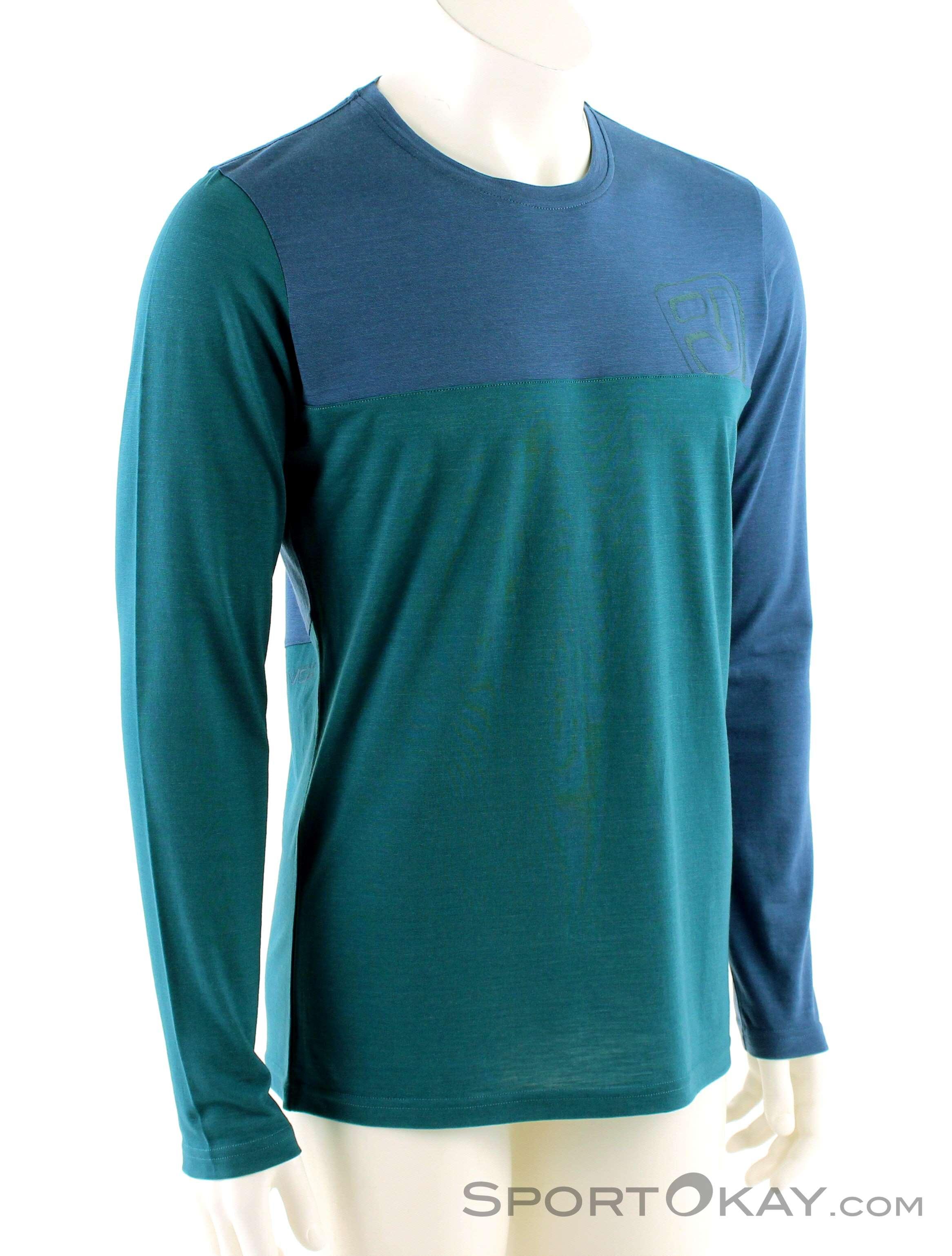 Ortovox 150 Cool Logo Long Sleeve Herren Shirt-Blau-S