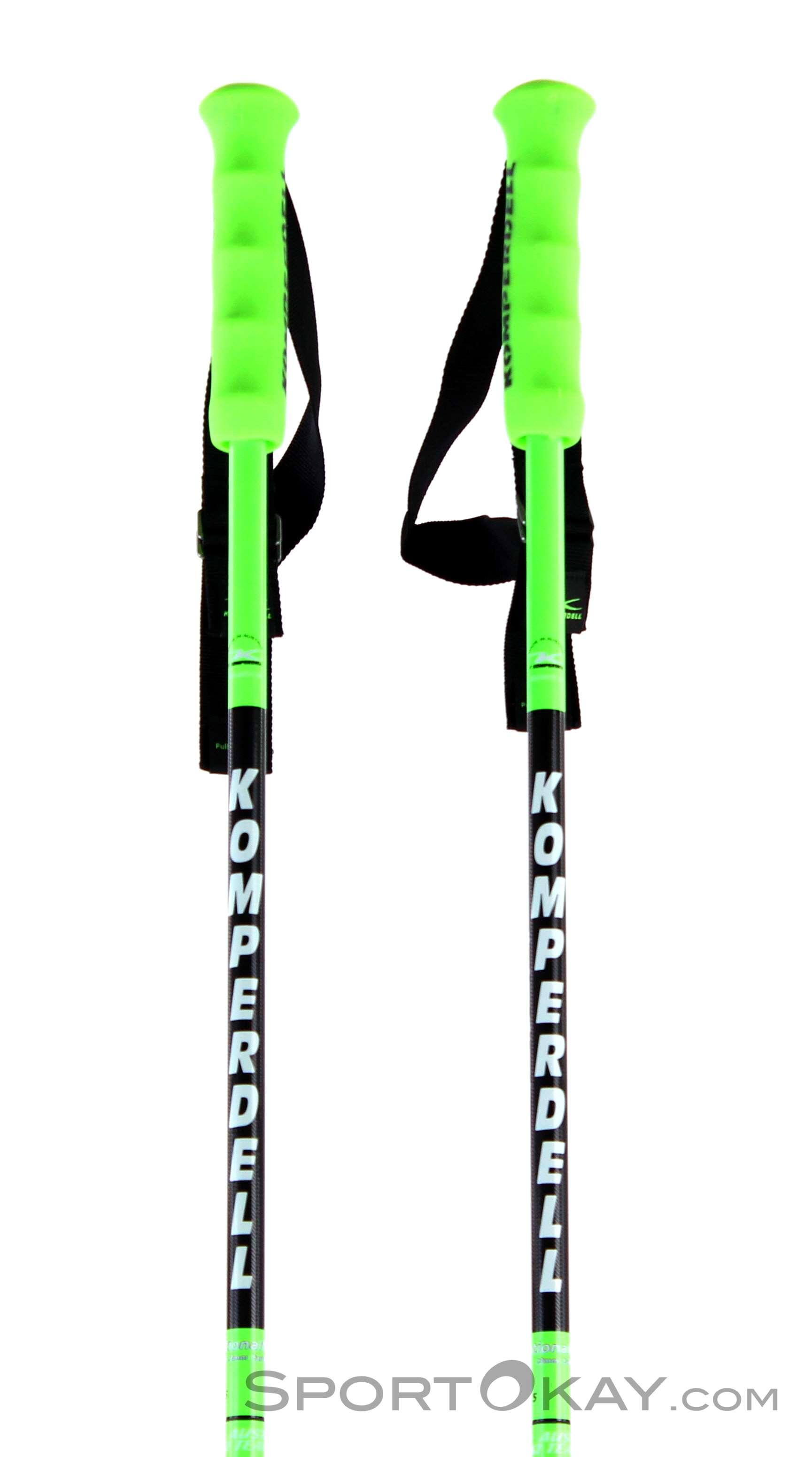 Komperdell Nationalteam Carbon Skistöcke-Grün-125
