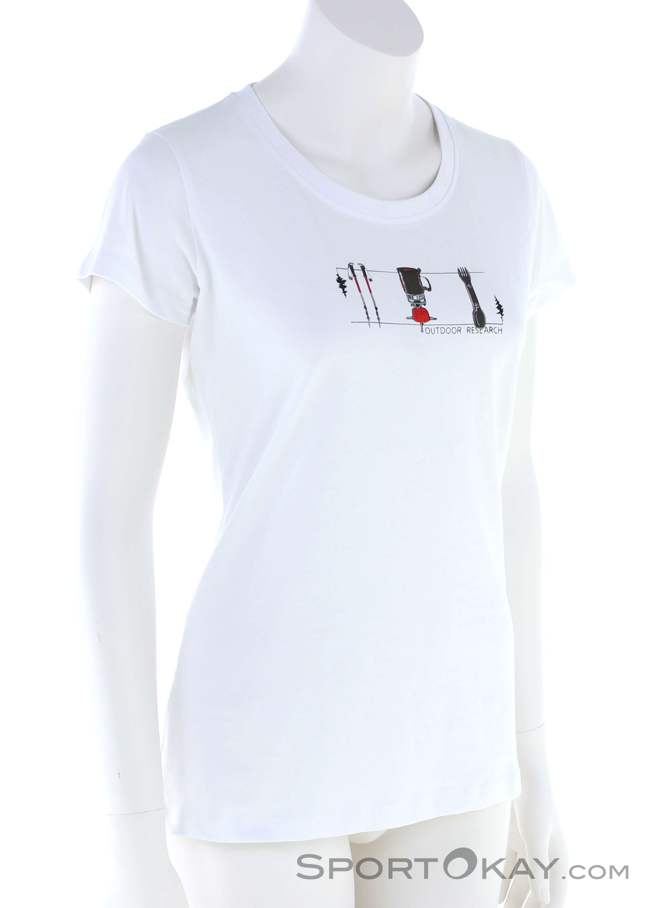 Outdoor Research Toolkit SS Damen T-Shirt-Weiss-M