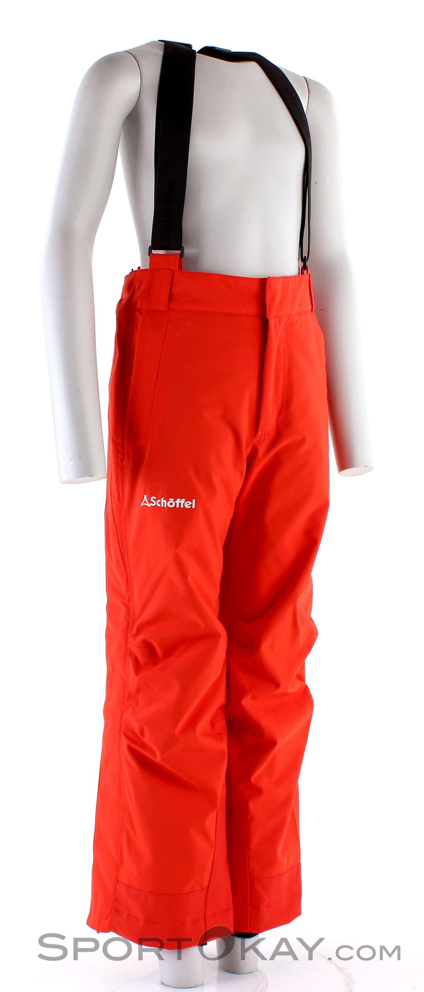 Schöffel Stretchpants Zip K RT Kinder Skihose-Rot-164